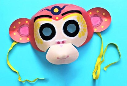 chinese-new-year-monkey-mask-2016-template